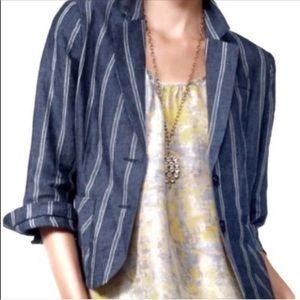 Cabi | Linen Nautical Stripe Blazer #871 size 6